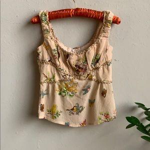 🦋 Nanette Lepore Romantic Princess Silk Blouse